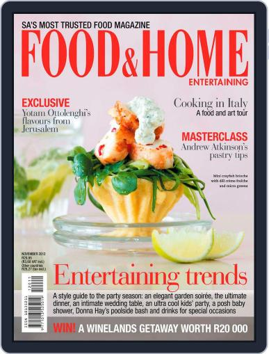 Food & Home Entertaining (Digital) October 14th, 2012 Issue Cover