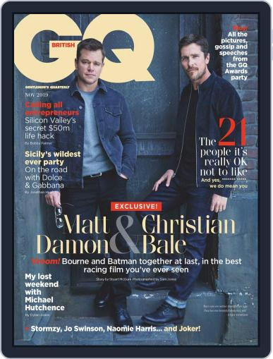 British GQ (Digital) November 1st, 2019 Issue Cover