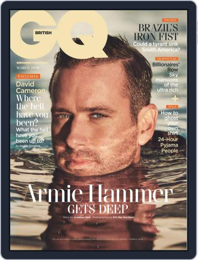 British GQ March 1st, 2019 Digital Back Issue Cover