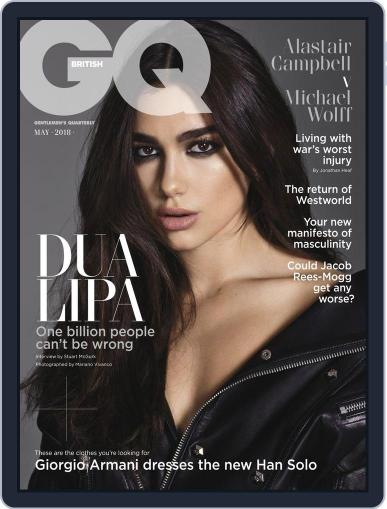 British GQ May 1st, 2018 Digital Back Issue Cover