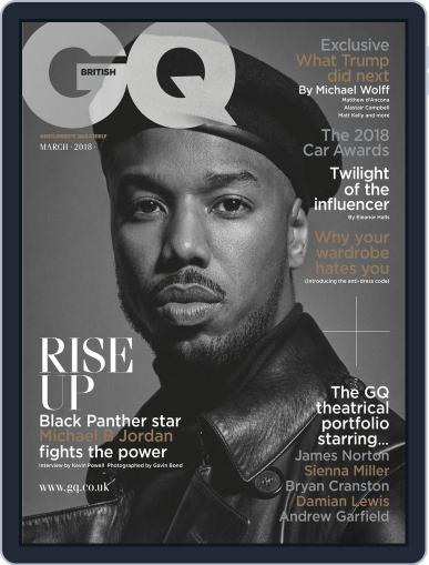 British GQ (Digital) March 1st, 2018 Issue Cover