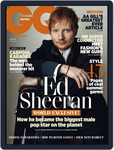 British GQ March 1st, 2017 Digital Back Issue Cover