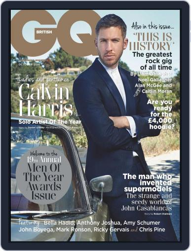 British GQ (Digital) October 1st, 2016 Issue Cover