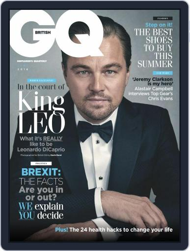 British GQ (Digital) June 1st, 2016 Issue Cover