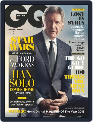 British GQ (Digital) December 7th, 2015 Issue Cover