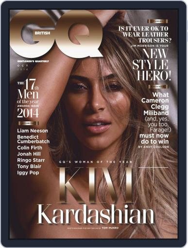 British GQ September 4th, 2014 Digital Back Issue Cover