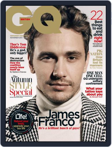 British GQ (Digital) October 2nd, 2013 Issue Cover
