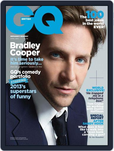 British GQ March 6th, 2013 Digital Back Issue Cover