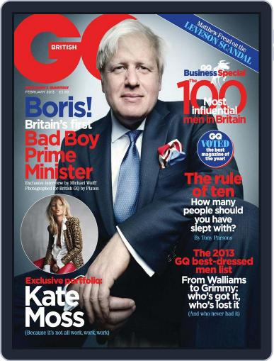 British GQ (Digital) January 4th, 2013 Issue Cover