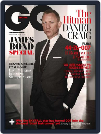 British GQ October 3rd, 2012 Digital Back Issue Cover