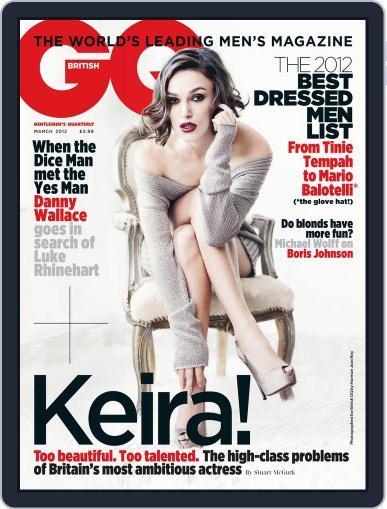 British GQ February 3rd, 2012 Digital Back Issue Cover
