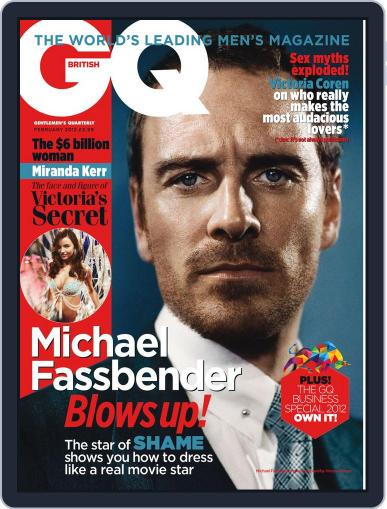 British GQ (Digital) January 13th, 2012 Issue Cover