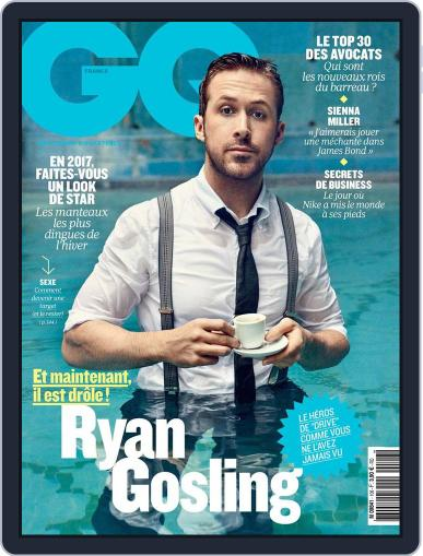 Gq France (Digital) January 1st, 2017 Issue Cover