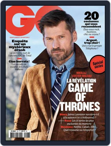 Gq France (Digital) April 13th, 2016 Issue Cover
