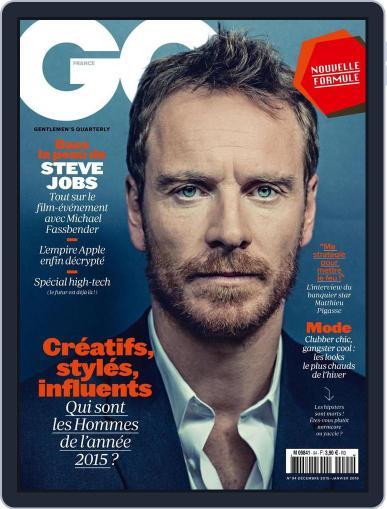 Gq France (Digital) November 20th, 2015 Issue Cover