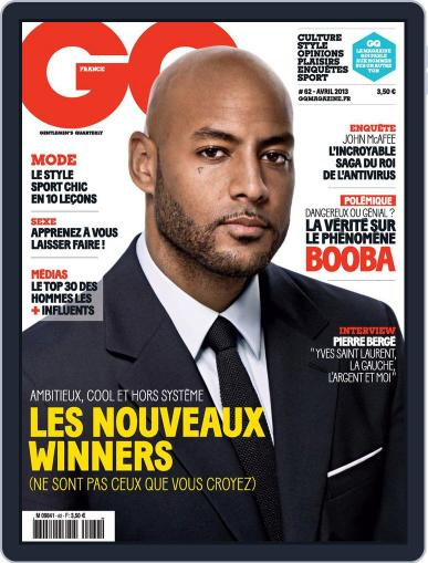 Gq France March 19th, 2013 Digital Back Issue Cover