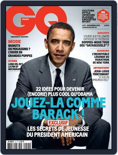 Gq France October 31st, 2012 Digital Back Issue Cover