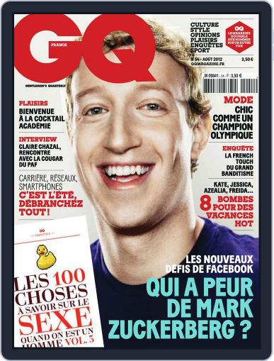 Gq France (Digital) July 19th, 2012 Issue Cover