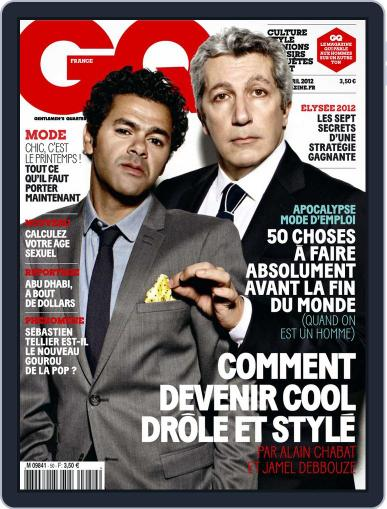 Gq France (Digital) March 20th, 2012 Issue Cover