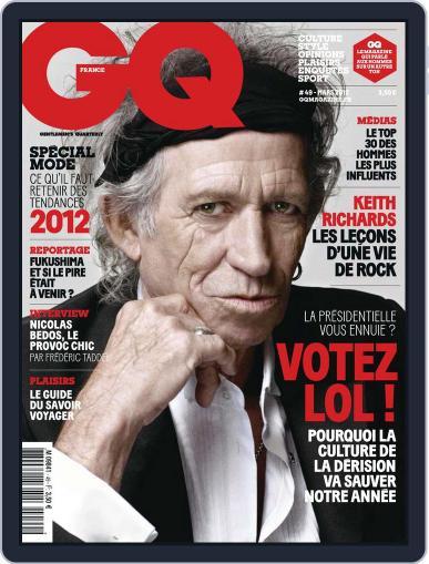 Gq France February 14th, 2012 Digital Back Issue Cover