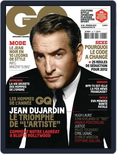 Gq France January 17th, 2012 Digital Back Issue Cover
