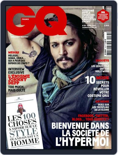 Gq France March 22nd, 2011 Digital Back Issue Cover