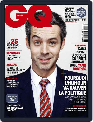 Gq France October 19th, 2010 Digital Back Issue Cover