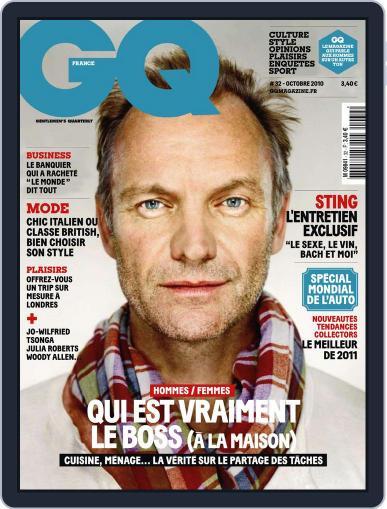 Gq France (Digital) September 21st, 2010 Issue Cover