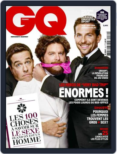 Gq France (Digital) July 26th, 2010 Issue Cover