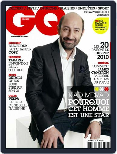 Gq France (Digital) December 15th, 2009 Issue Cover