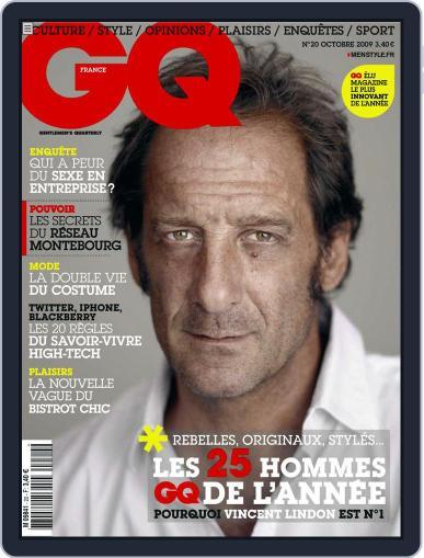 Gq France September 22nd, 2009 Digital Back Issue Cover