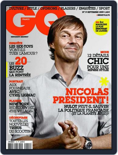 Gq France (Digital) August 25th, 2009 Issue Cover