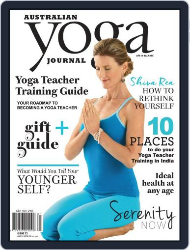 Australian Yoga Journal January 1st, 2019 Digital Back Issue Cover