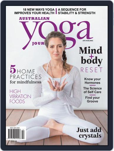 Australian Yoga Journal August 1st, 2018 Digital Back Issue Cover