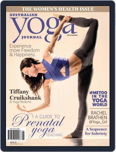 Australian Yoga Journal May 1st, 2018 Digital Back Issue Cover