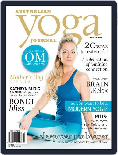 Australian Yoga Journal April 21st, 2016 Digital Back Issue Cover