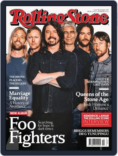 Rolling Stone Australia (Digital) October 1st, 2017 Issue Cover