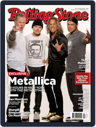 Rolling Stone Australia (Digital) December 1st, 2016 Issue Cover