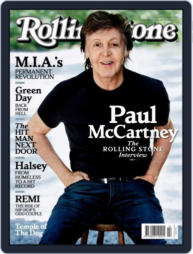 Rolling Stone Australia (Digital) October 1st, 2016 Issue Cover