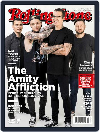 Rolling Stone Australia August 3rd, 2016 Digital Back Issue Cover