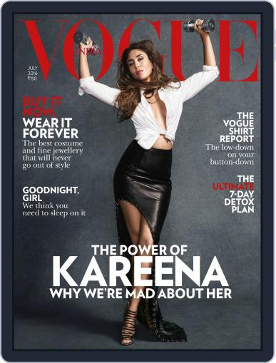 VOGUE India (Digital) July 1st, 2016 Issue Cover