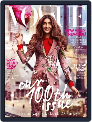 VOGUE India (Digital) January 1st, 2016 Issue Cover