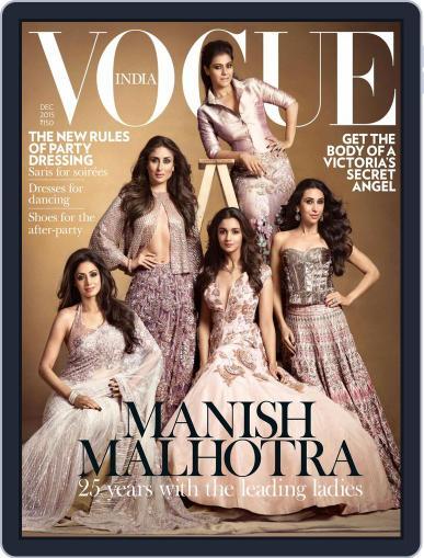 VOGUE India December 1st, 2015 Digital Back Issue Cover