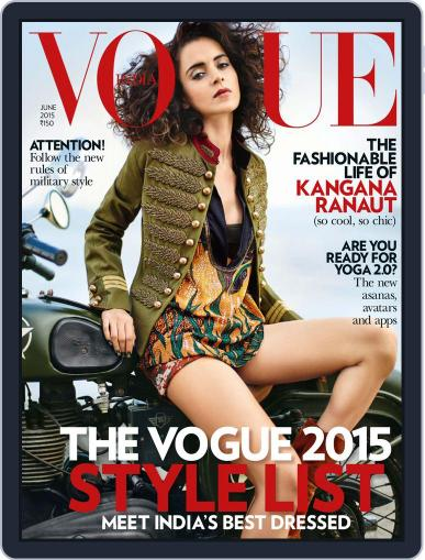 VOGUE India (Digital) May 29th, 2015 Issue Cover