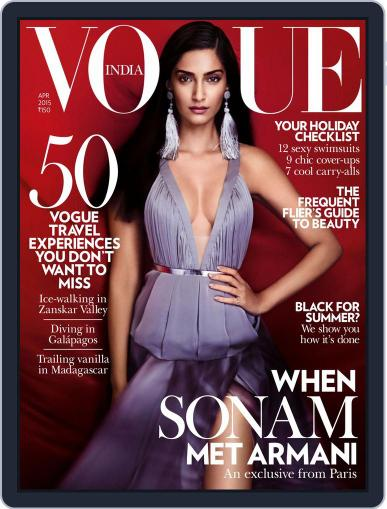 VOGUE India March 31st, 2015 Digital Back Issue Cover