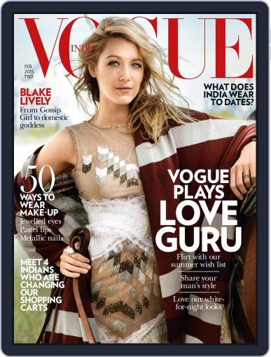 VOGUE India (Digital) January 30th, 2015 Issue Cover