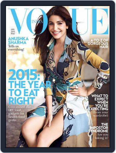 VOGUE India (Digital) December 31st, 2014 Issue Cover