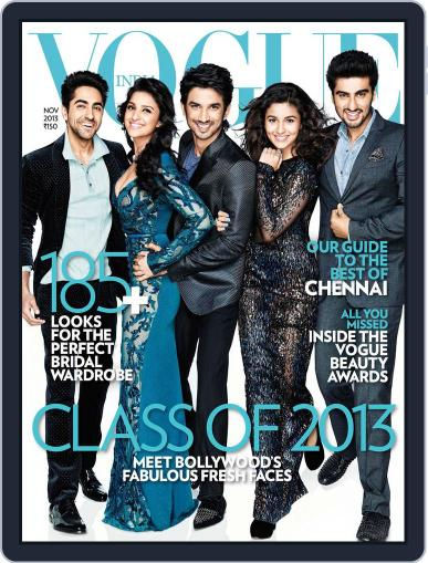 VOGUE India October 31st, 2013 Digital Back Issue Cover