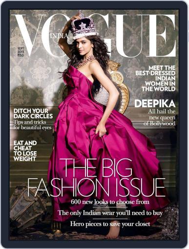 VOGUE India September 3rd, 2013 Digital Back Issue Cover
