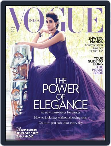 VOGUE India (Digital) November 5th, 2012 Issue Cover